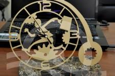 настольные часы мрамор+металл (2)
