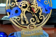настольные часы мрамор+металл (4)